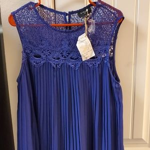 ONE DAY SALE!!!Everly pleated and lace dress